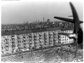 Berlin Airlift, early 1950s, Pan Am DC-4 approaching Tempelhof