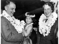 A closeup of Juan Trippe and Betty Trippe in Hawaii
