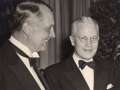 Pan Am President Juan Trippe with John Leslie in the 1950s