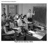 Pan Am flight service training class 1950s