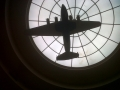 Silhouette of Model: Pan Am B-314 Clipper, at the Marine Air Terminal (MAT), today