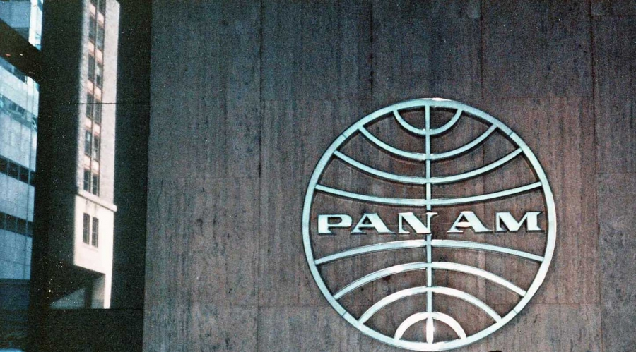 Pan Am Logo in the Lobby of the Pan Am Building, Park Avenue, New York City