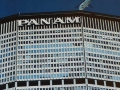 Pan Am Building from below, with helicopter landing