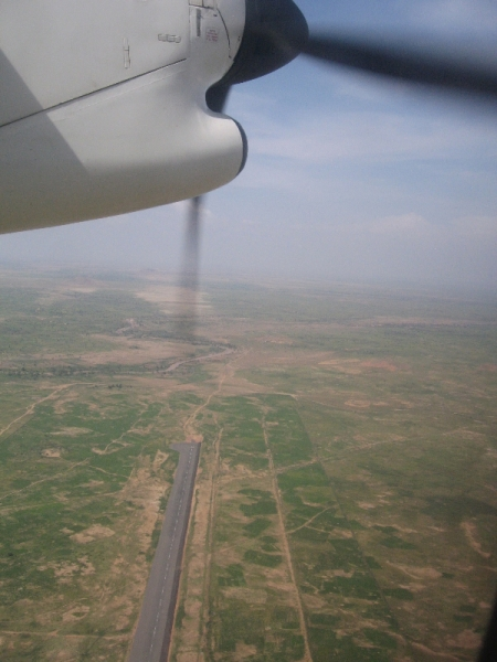 Aerial view, airfield, El Geneina, UNAMID