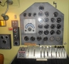 Flight engineer panel: Pan Am Boeing 314 flying boat at Foynes Museum
