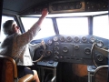 Inside the cockpit of a Pan Am, Boeing, 314, Foynes flying boat museum