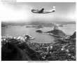 Pan Am Boeing B-377 Stratocruiser Over Rio