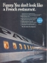 Pan Am's Jet Age: Ad about onboard dining at Maxim's of Paris, 1968