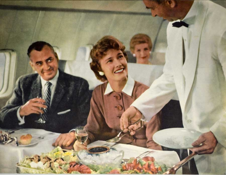 Image result for pan american airline food