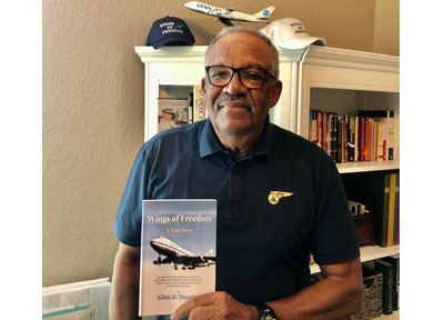 "Al Topping With His New Book ""Wings of Freedom"": Purchase now, along with ""Wings of Freedom"" Caps!"