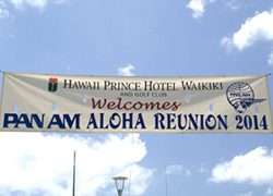 Pan Am Aloha Reunion Banner, Hawaii 2014