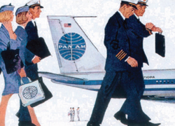 Pan Am Advertisement detail,  Jet Age