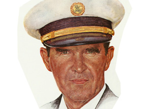 Norman Rockwell Pan Am Captain llustration
