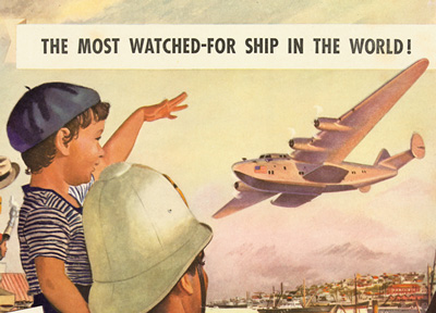 "Pan Am ""Most watched-for ship in the world"" Advertisement, 1939"
