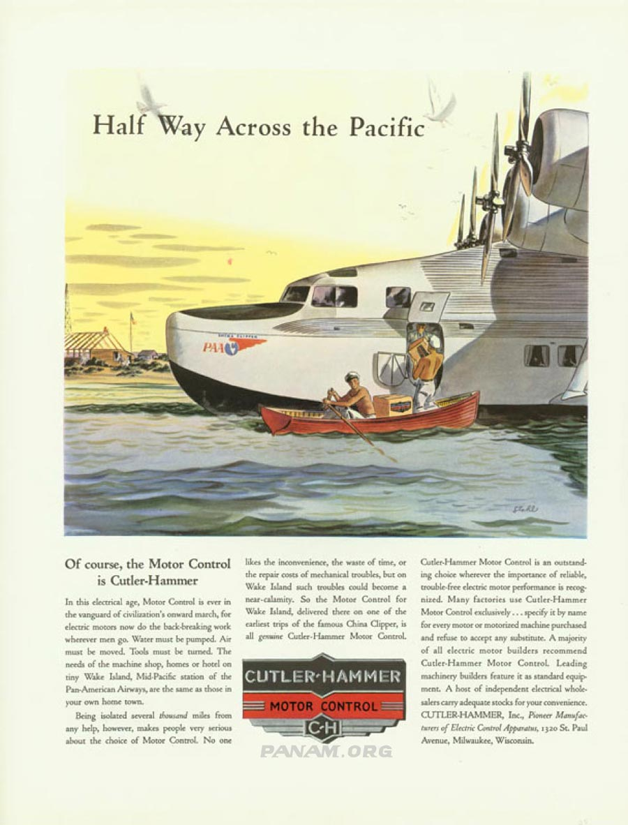 Cutler Hammer Ad with the China Clipper