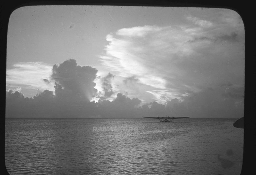 Pan Am Hawaii Clipper at Wake Island, Pan Am Historical Foundation Richard Rhode Family Archive