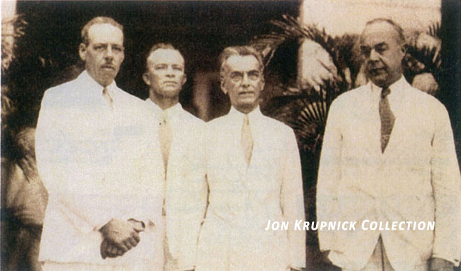 Jon Krupnick Collection Bixby Grooch Quezon at welcoming ceremonies