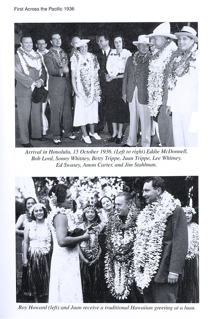 "From the book ""Pan Am's First Lady"" by Betty Trippe - Oct 1936 36 Honolulu arrival celebration"