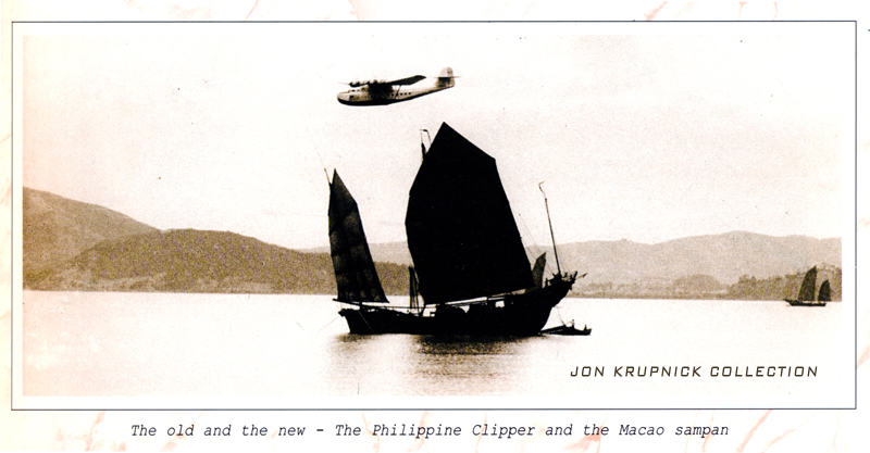 M-130 Philippine Clipper over Macao (Courtesy Jon Krupnick Collection)