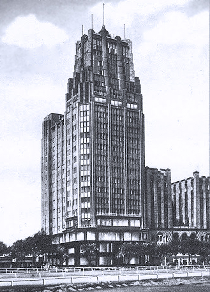Art Deco- style Park Hotel, built in 1934, overlooked the Shanghai Race Course and was the tallest building in Asia for over 30 years