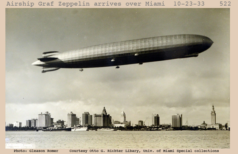 2 Graf Zeppelin arrives over Miami