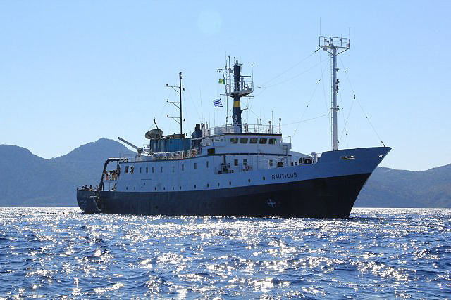 E/V Nautilus the exploration vessel now searching for Samoan Clipper July 2019