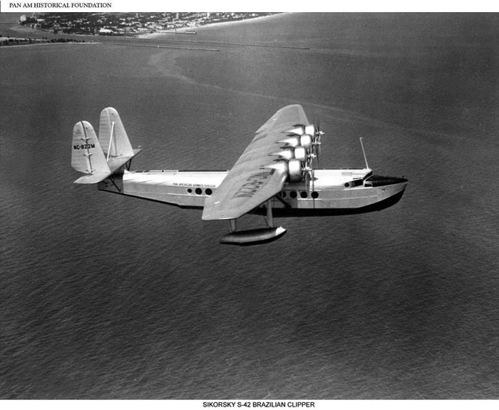 Pan Am Sikorsky S-41 flying boat, first used 1934