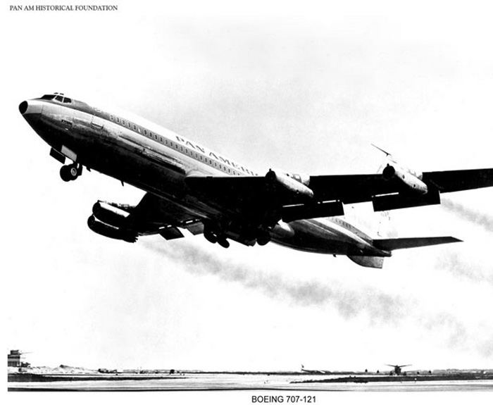 Pan Am Boeing 707, Jet Age, 1960s