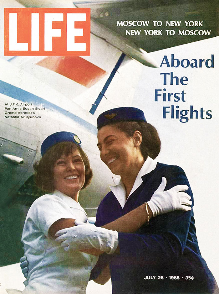 Pan Am Flies to Moscow 1968 Life Magazine Photo