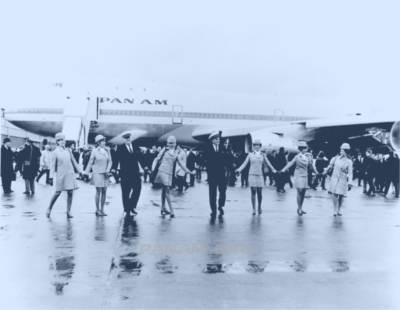 Pan Am First Flight to London LHR 1970 arrival