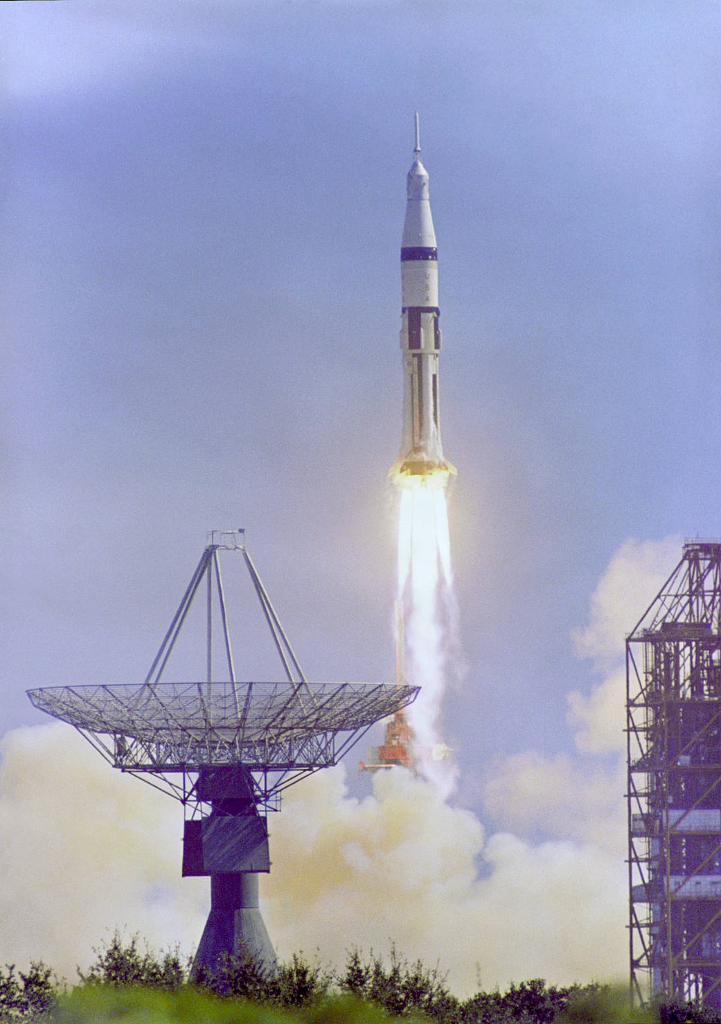 1 Apollo 7 Launches on October 11 1968