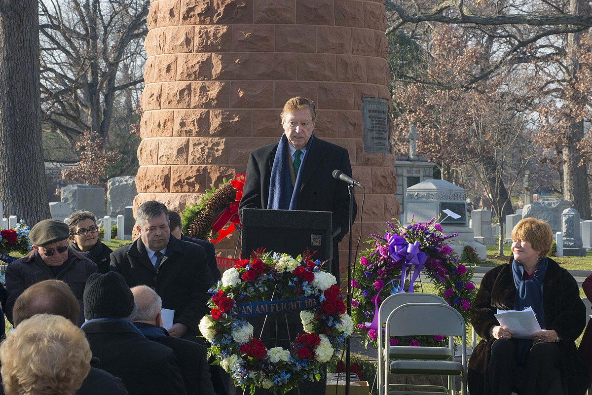 Pan Am Flight 103 Memorial Ceremony head of the Flight 103 Memorial Committee delivers speech 2014 f