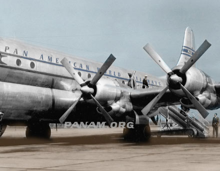 Pan Am Flight Simulators in B 377 Stratocruisers