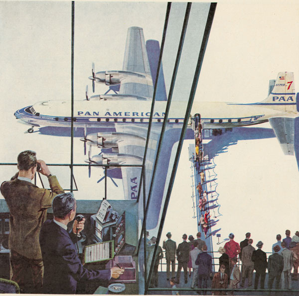 Pan Am Douglas Super 7 Illustration
