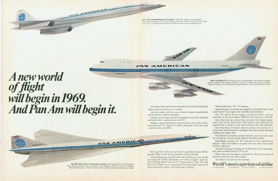 Pan Am 1967 future possibilities