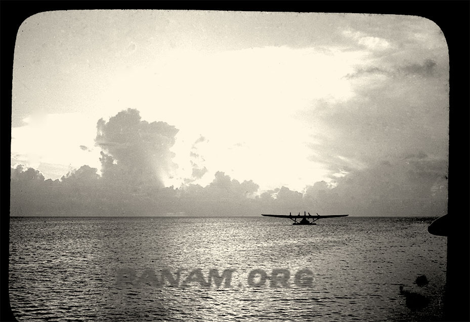 Pan Am Hawaii Clipper on lagoon June 1938