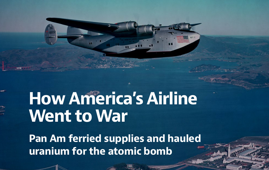 How America's Airline went to War, Pan Am Boeing 314 flying boat