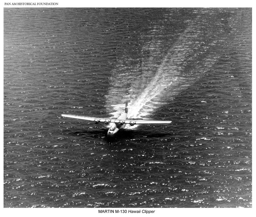 Pan Am's Hawaii Clipper, M-130 flying boat on the water