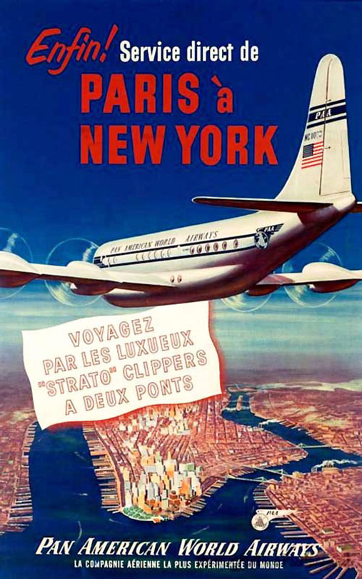 Pan Am NYC Paris Boeing 377 StratoClipper rsz