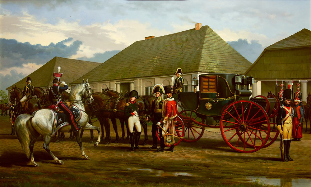 Andrezj Novak Zemplinski Napoleons carriage in Poland 1812