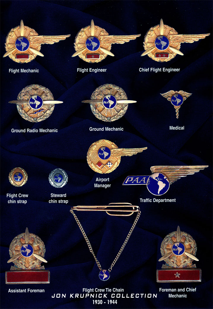 7 Pan Am Employees by Department Pins Jon Krupnick Collection 1930 1944 rsz watermarked