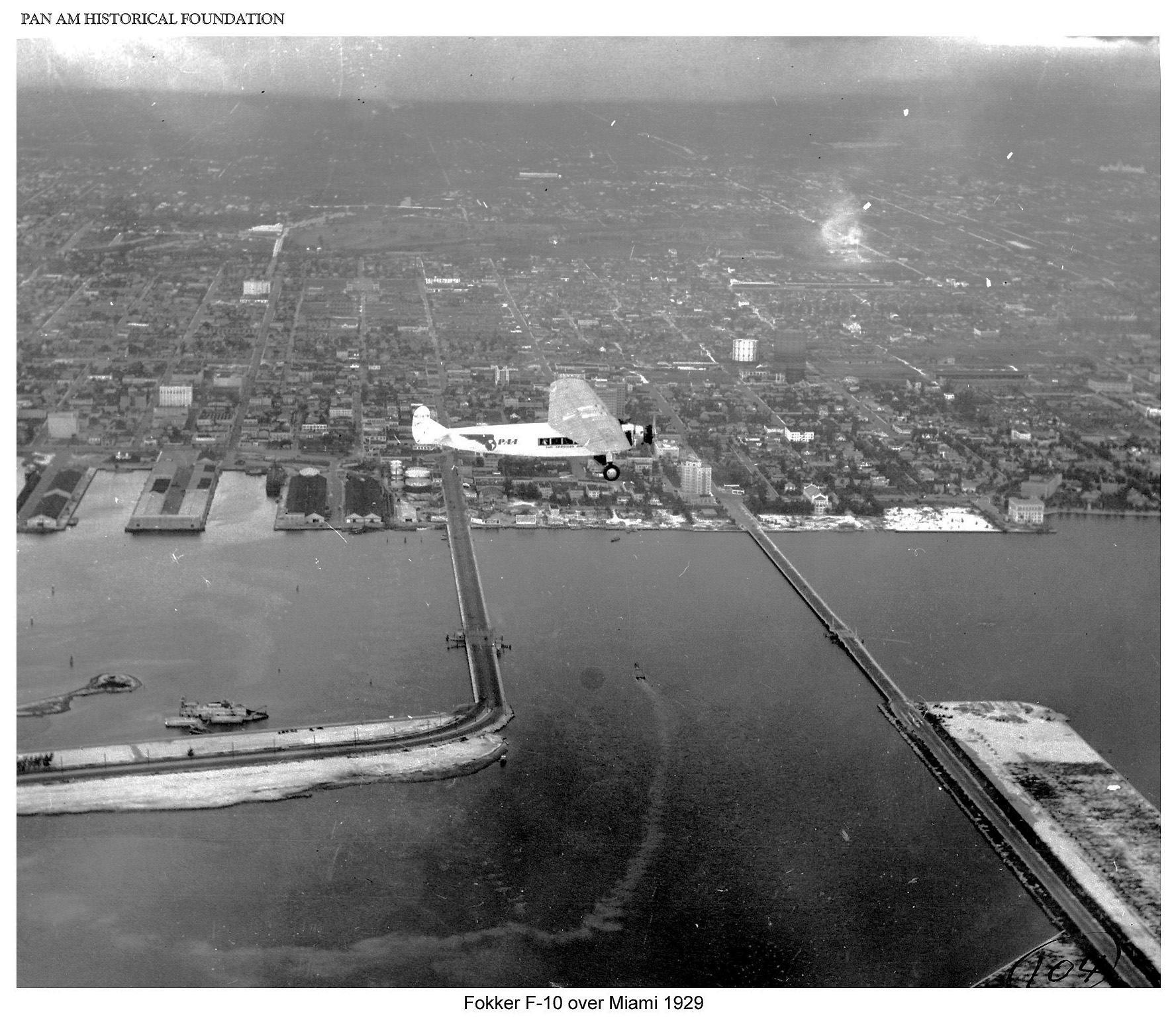 Fokker F10 over Miami 1929