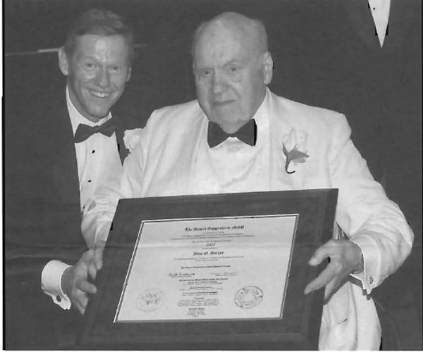 Borger with Guggenheim Award 2002
