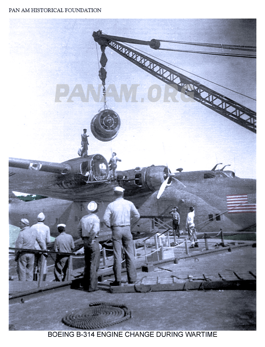 B. Pan Am Boeing 314 engine change wartime rsz web