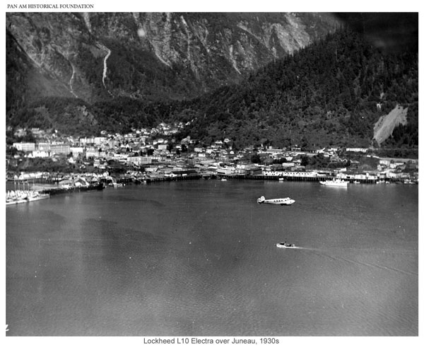 Pacific Alaska Lockheed Electra over Juneau