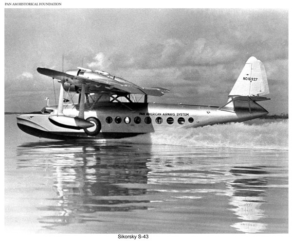 Pan Am Sikorsky S 43 taking off