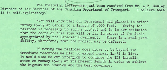 Cowley Runway Extension Letter