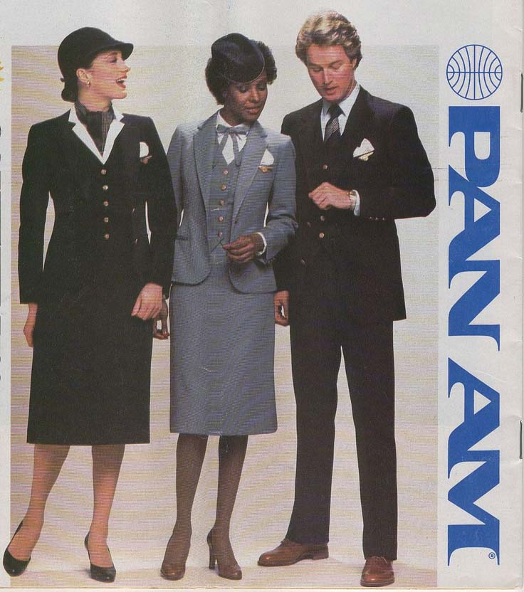 pan am african american stewardess 1980s ad