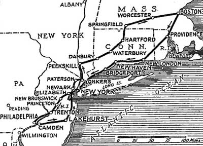 Proposed Route of the Hindenburg blog