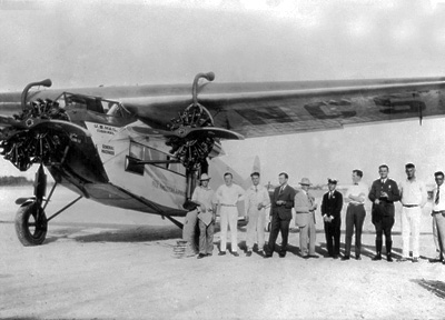 Pan Am's First Crash in 1928. Fokker F-7 on Mail Route from Key West to Havana, Cuba